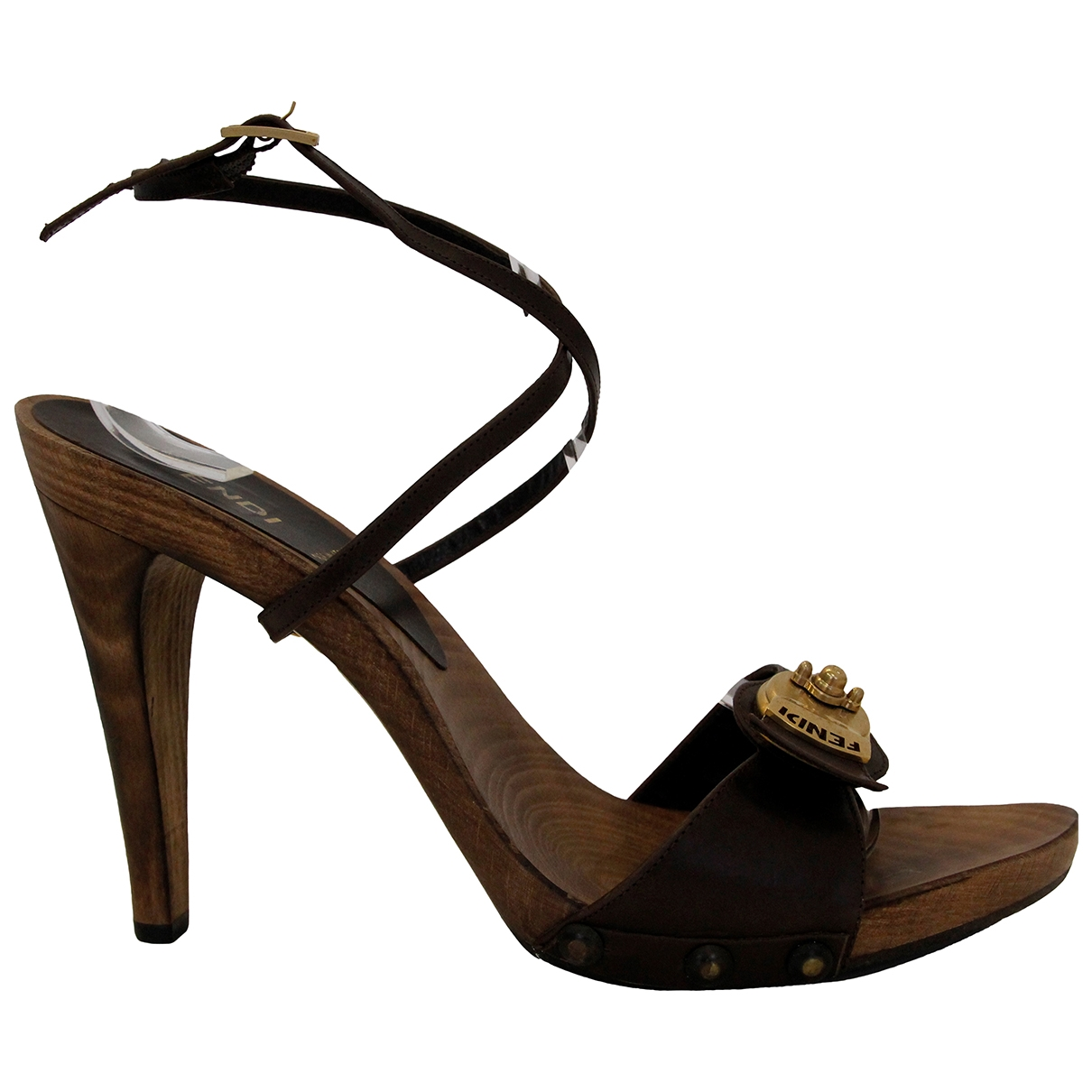 Fendi \N Brown Leather Mules & Clogs for Women 40 EU