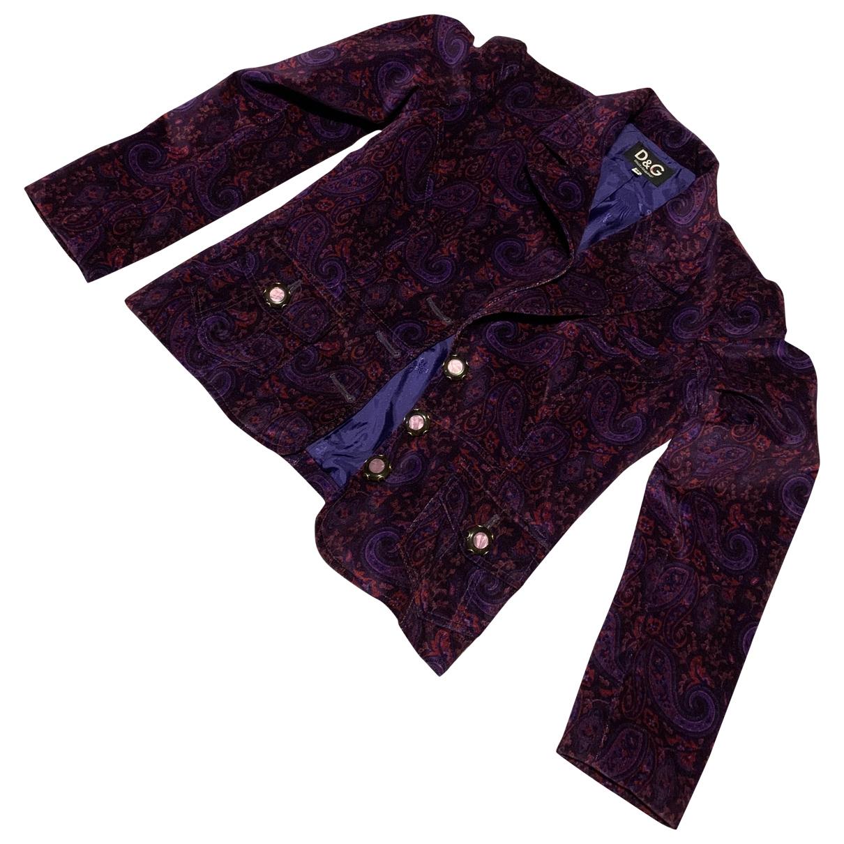 D&g - Veste   pour femme en coton - violet