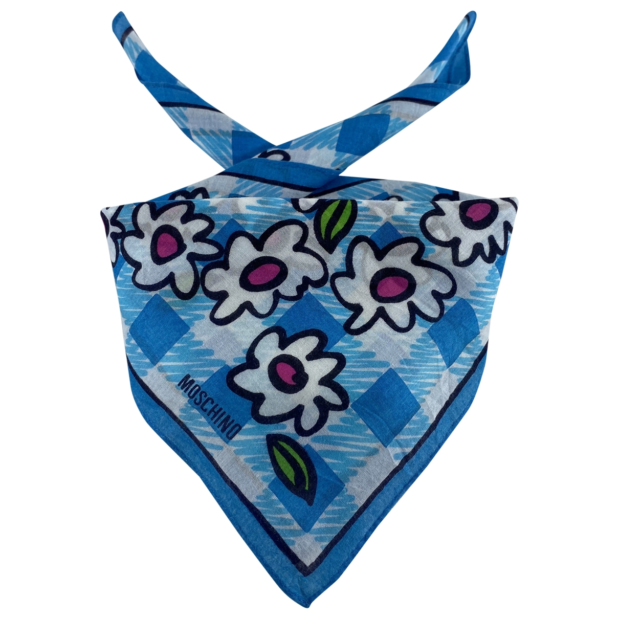 Moschino \N Schal in  Blau Baumwolle