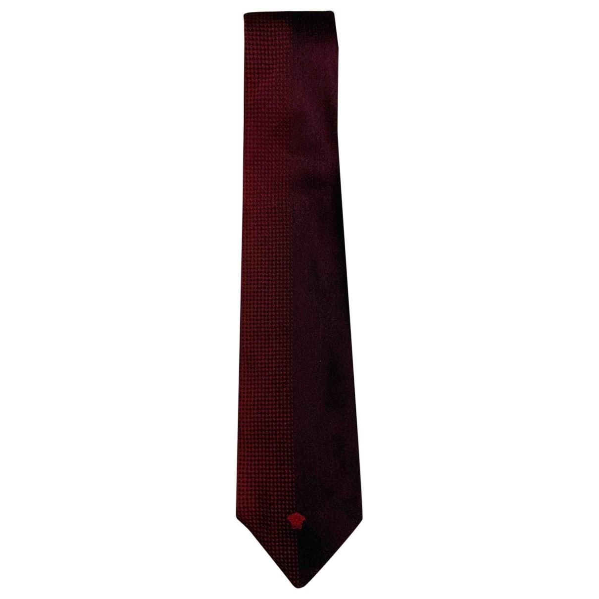 Versace \N Krawatten in  Bordeauxrot Seide