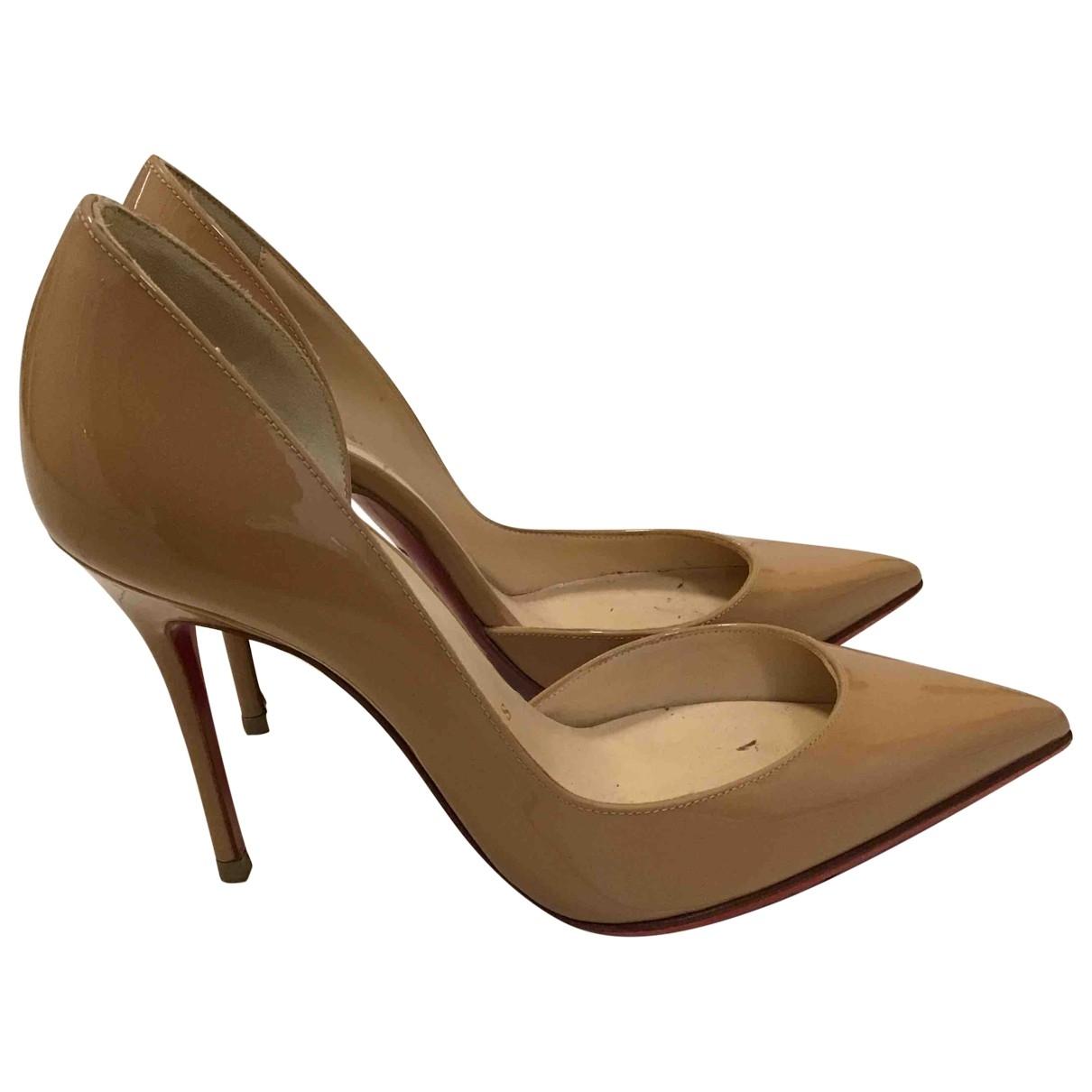 Christian Louboutin Iriza Brown Patent leather Heels for Women 35 EU