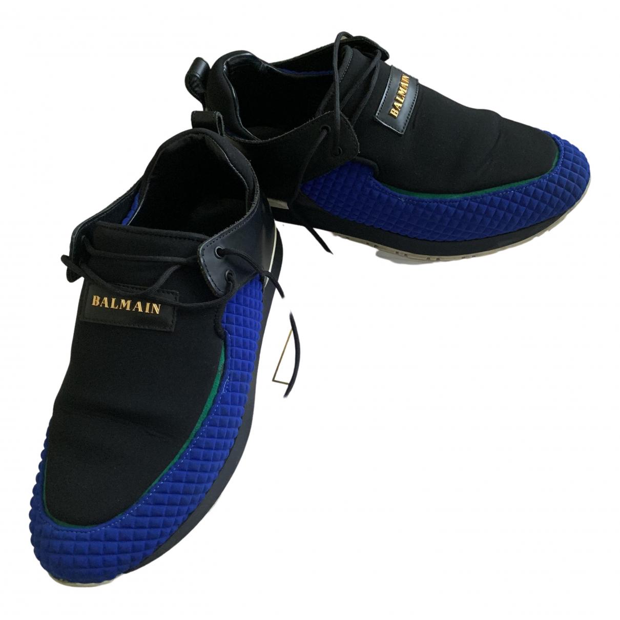 Balmain N Blue Leather Trainers for Women 39 EU