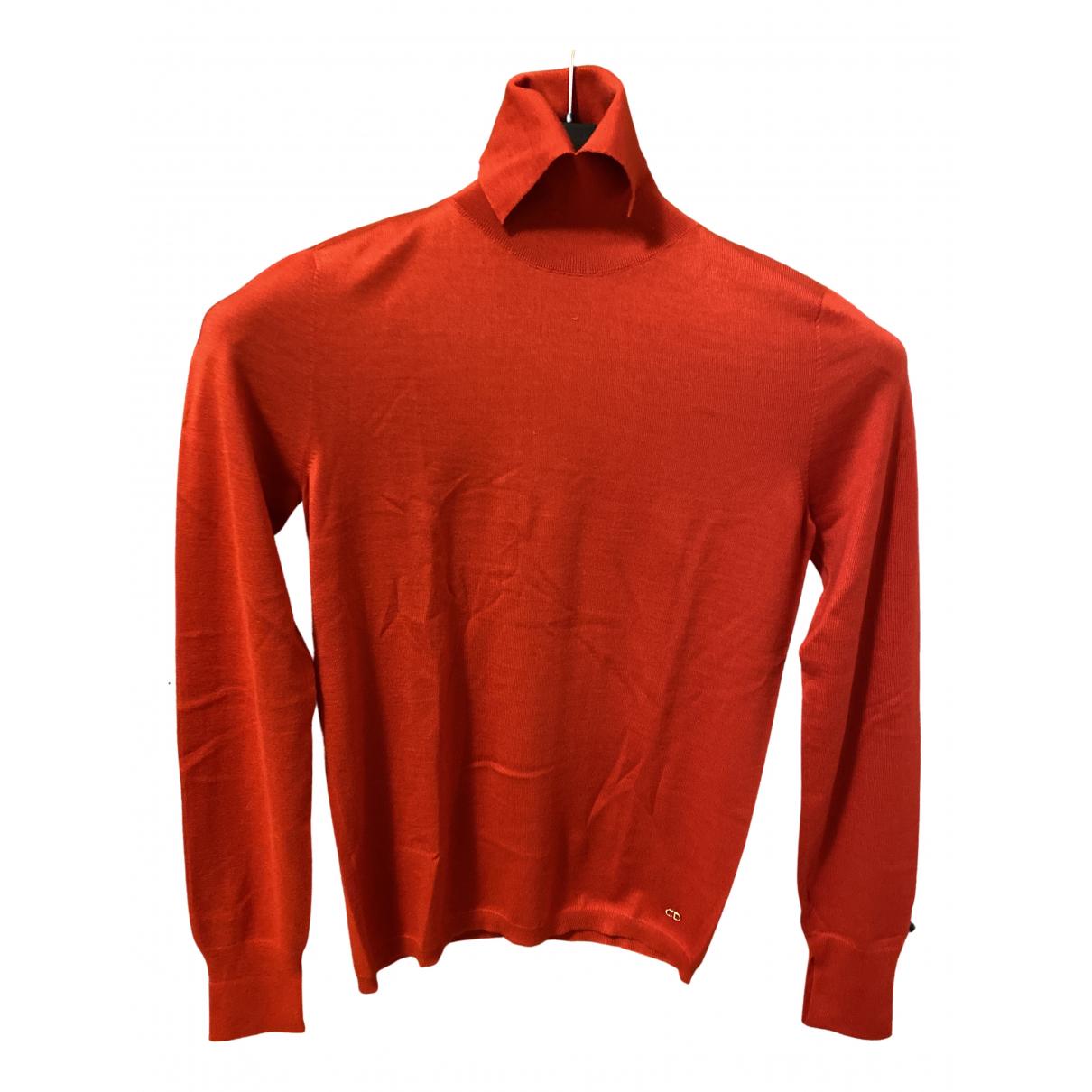 Dior - Pull   pour femme en cachemire - rouge