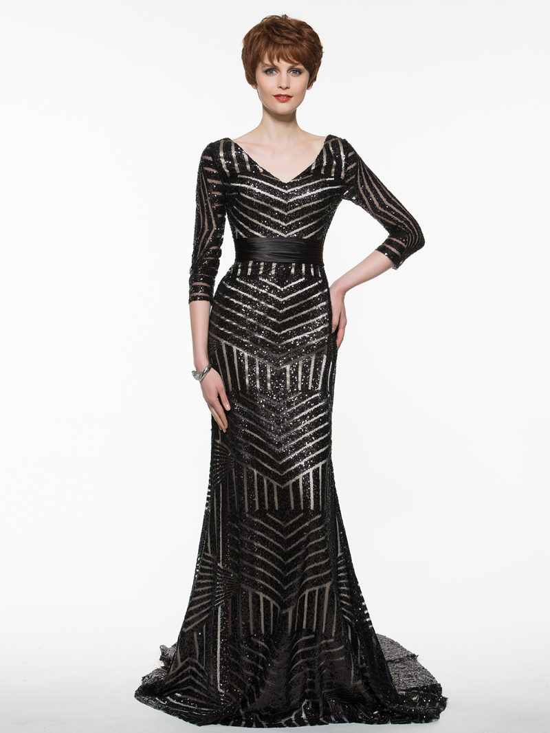 Ericdress Beautiful Sequins Mermaid Mother Of The Bride Dress With Sleeves
