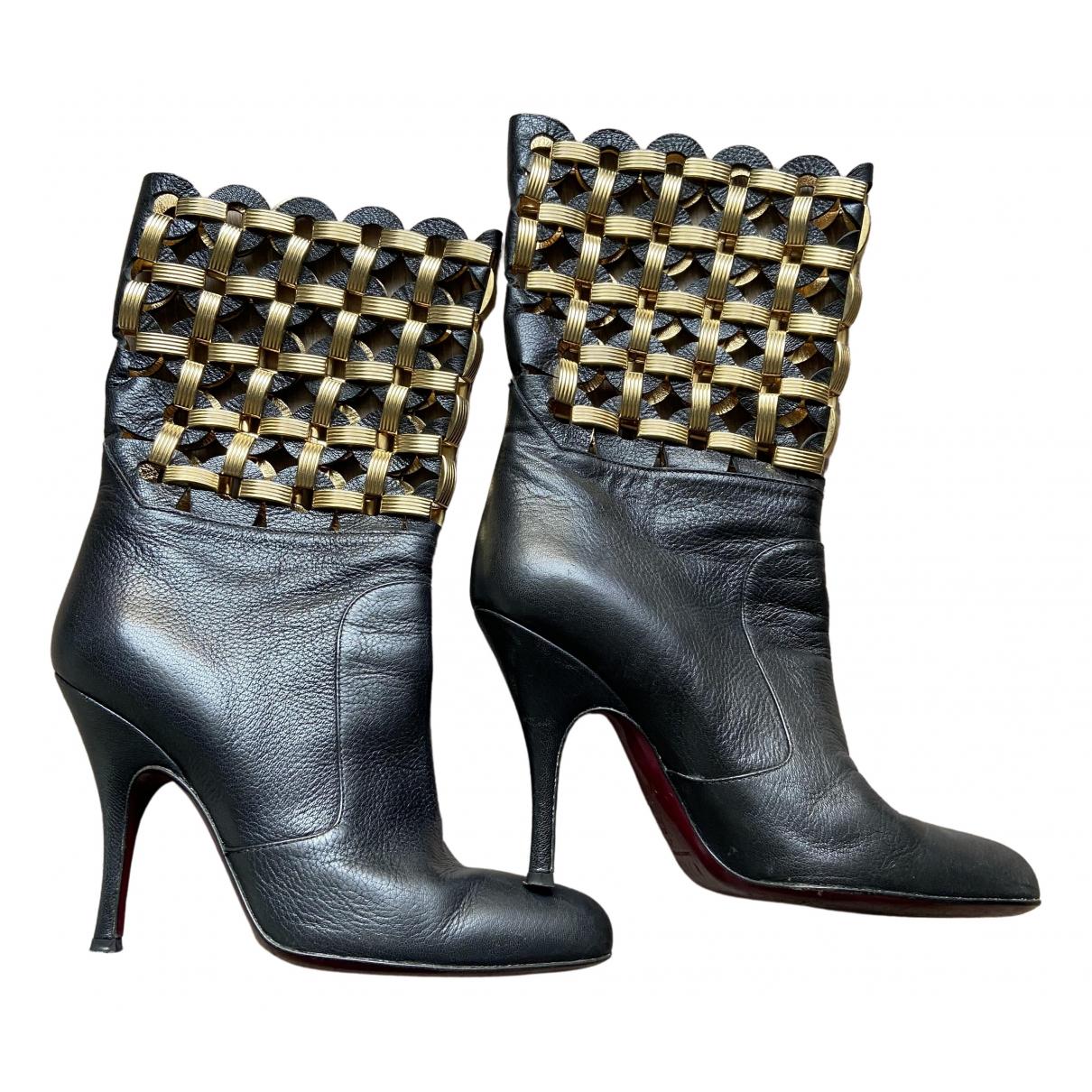 Dolce & Gabbana \N Stiefeletten in  Schwarz Leder