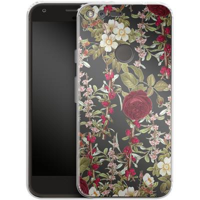 Google Pixel XL Silikon Handyhuelle - Floral Explorer von Zala Farah