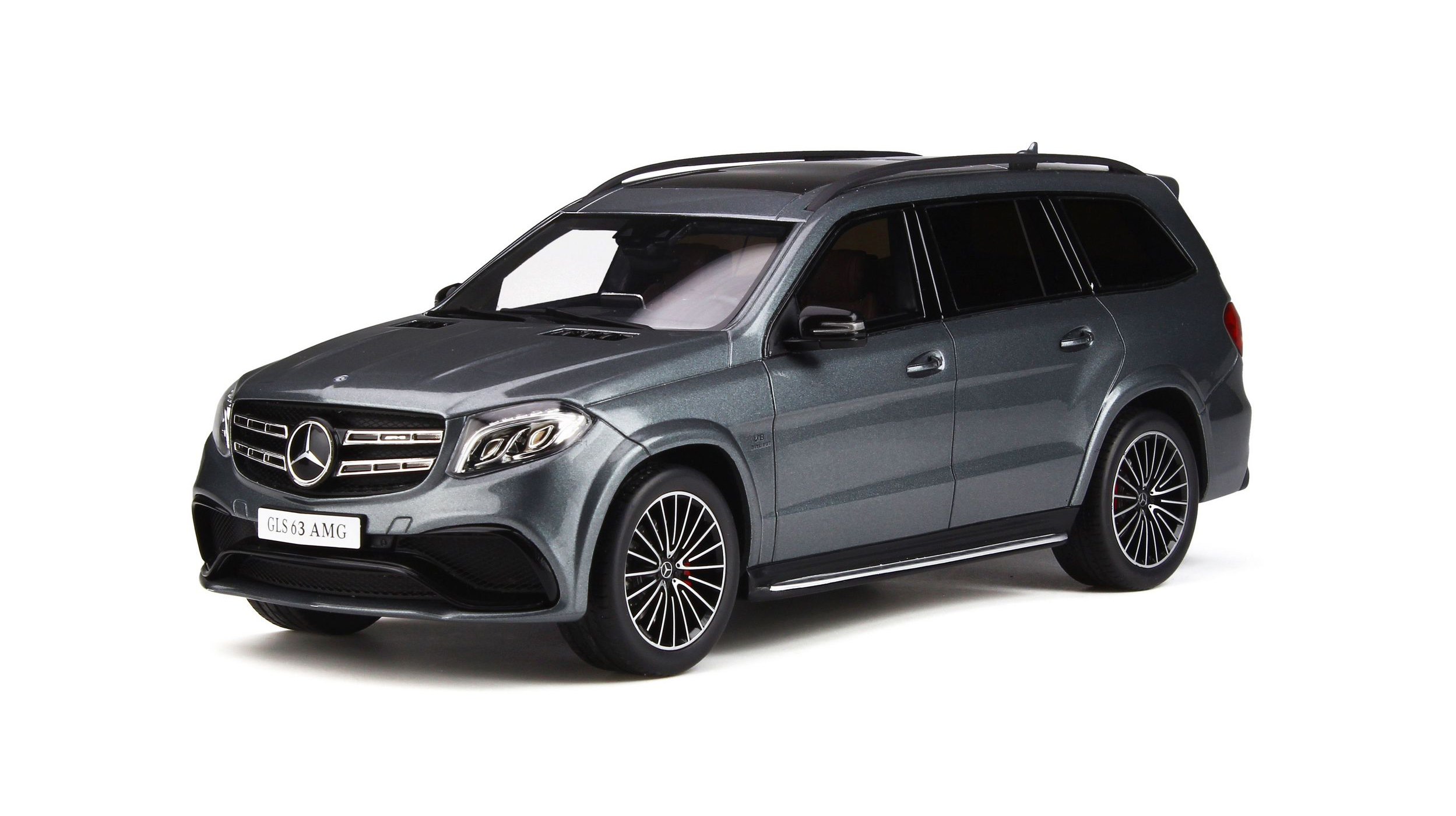 Mercedes AMG GLS 63 Selenite Gray Limited Edition to 500 pieces Worldwide 1/18 Model Car by GT Spirit