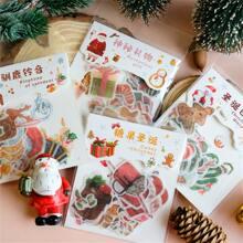 40 Stuecke Zufaelliger Aufkleber mit Weihnachten Muster