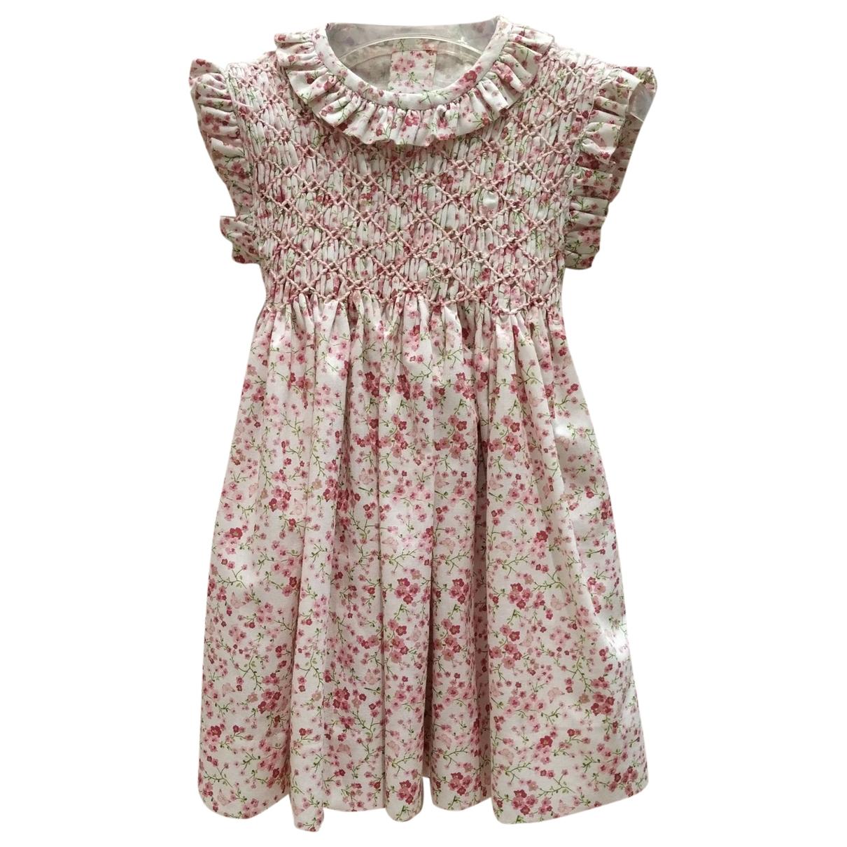 - Robe    pour enfant en coton - rose