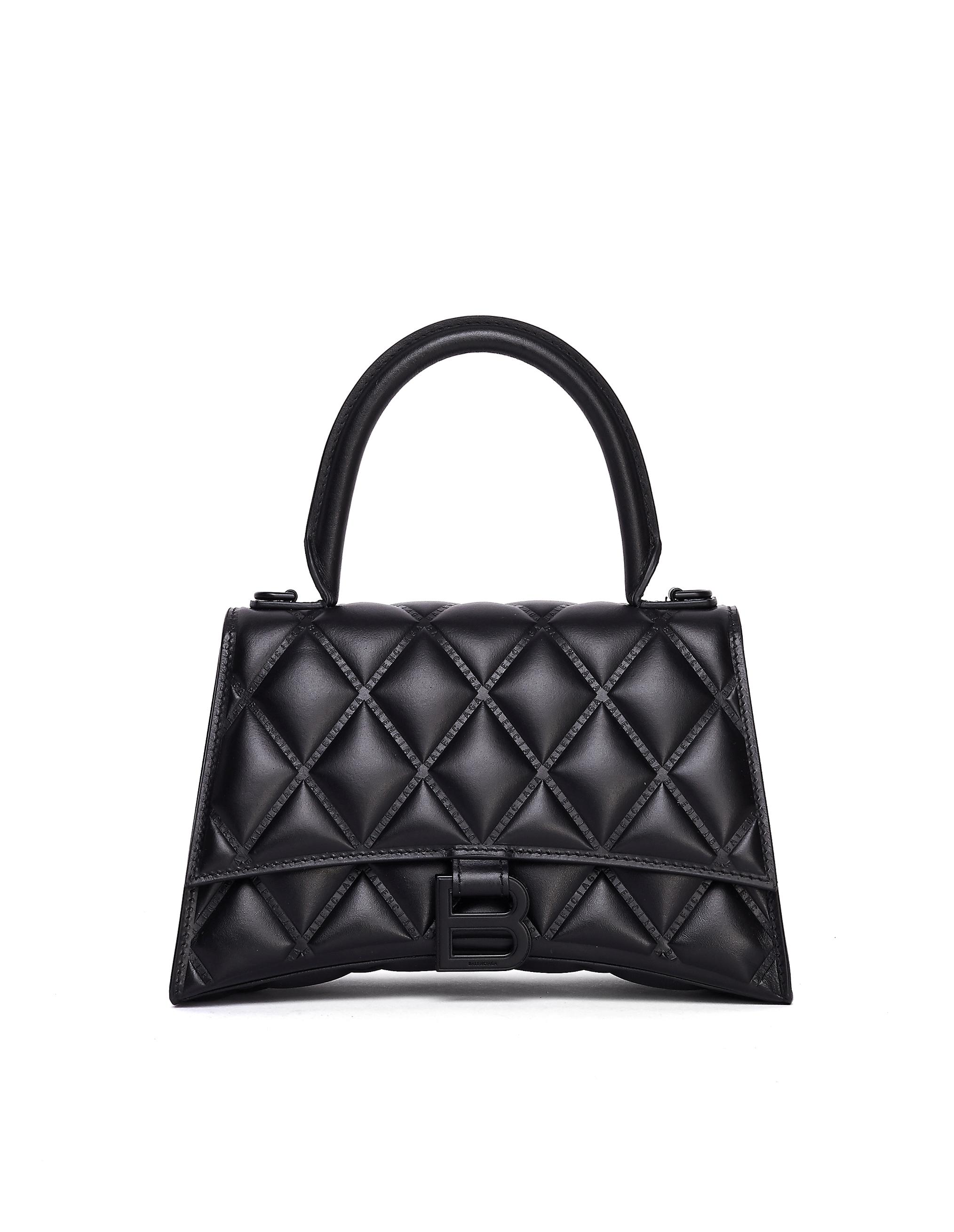 Balenciaga Black Hourglass Top Handle Bag