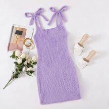 Cami Pulloverkleid mit Knoten auf Schulter