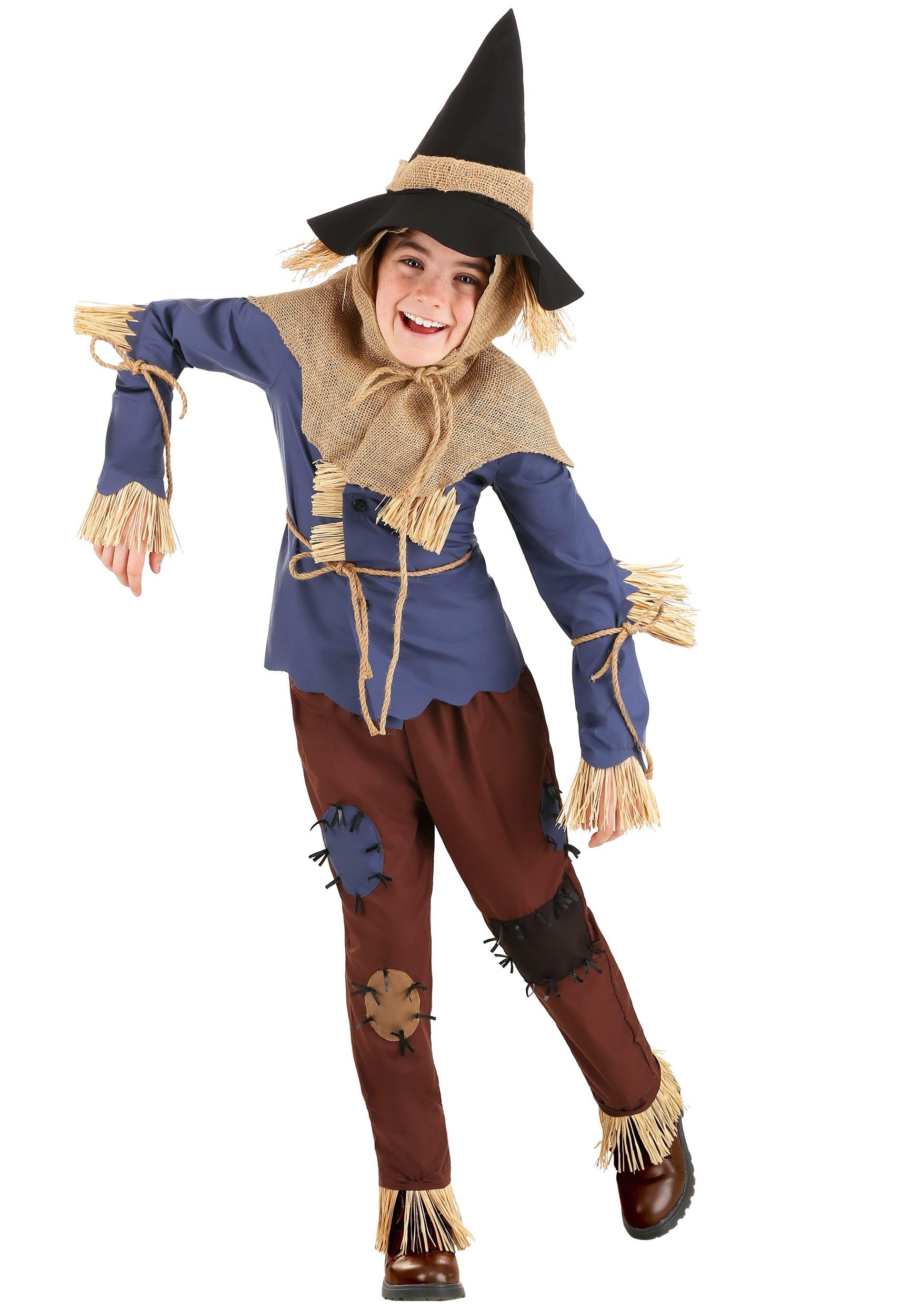 Patchwork Scarecrow Kid's Costume