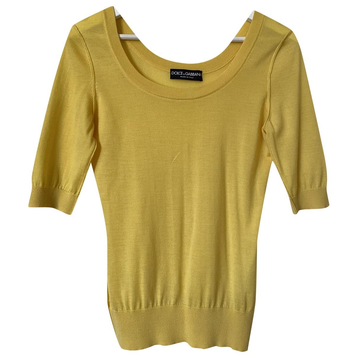 Dolce & Gabbana - Pull   pour femme en cachemire - jaune