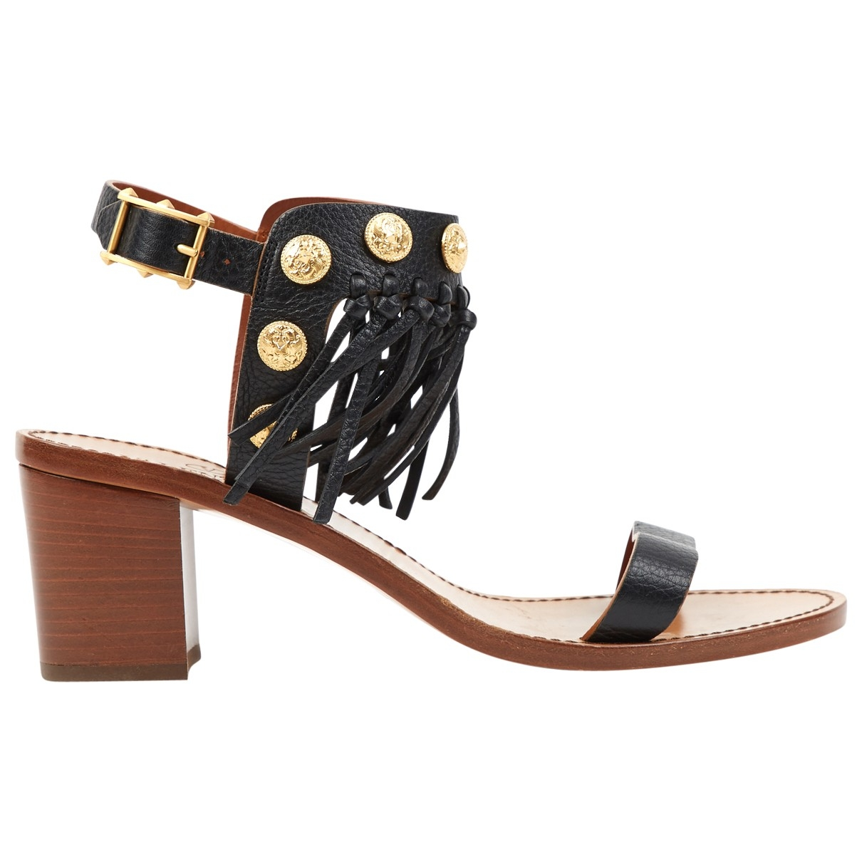 Valentino Garavani \N Black Leather Sandals for Women 39 EU