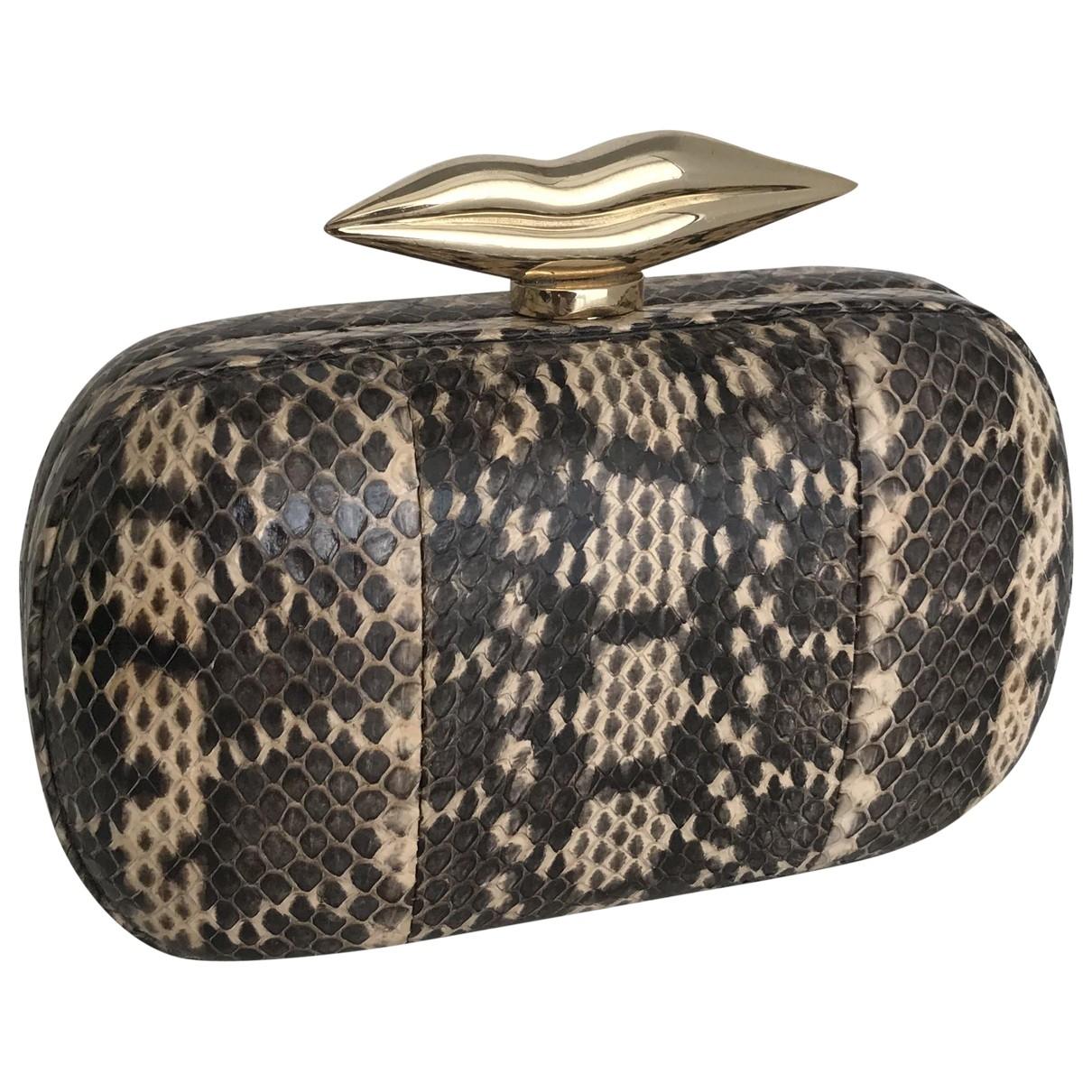 Diane Von Furstenberg \N Brown Leather Clutch bag for Women \N