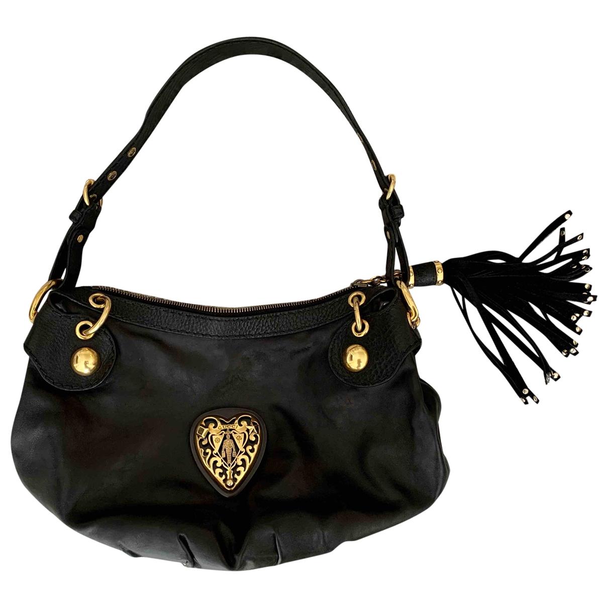 Gucci Hysteria Black Leather handbag for Women \N