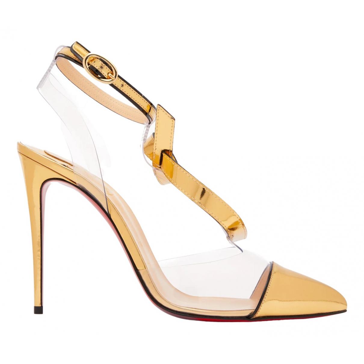 Christian Louboutin \N Gold Heels for Women 41.5 EU