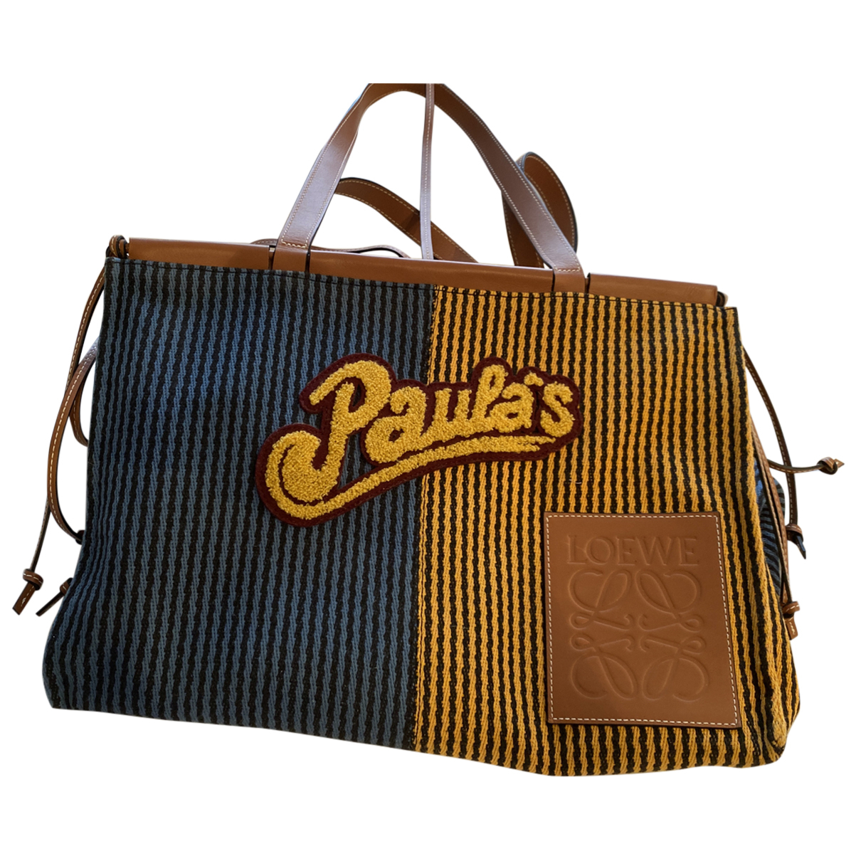Loewe N Blue Cloth Travel bag for Women N