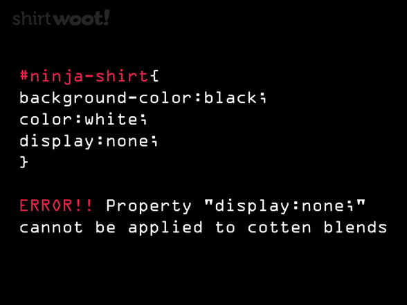 Ninja Level Coder T Shirt