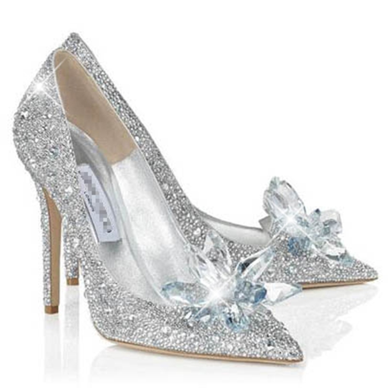 Ericdress Point Toe Beads Rhinestone Stilettos Prom Shoes