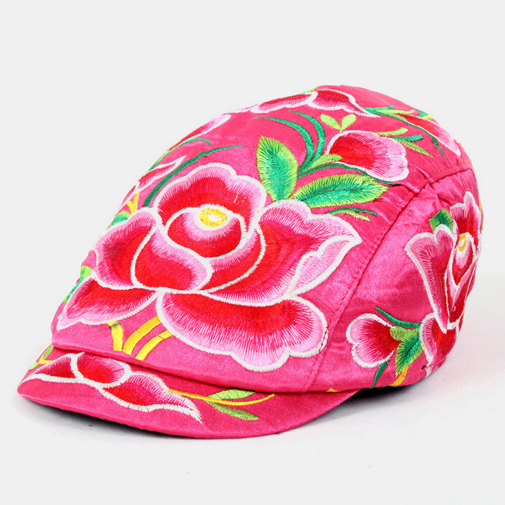 Tourism Embroidery Hat National Style Embroidered Cap Cap Female Style Casual Hat Tourism Hat