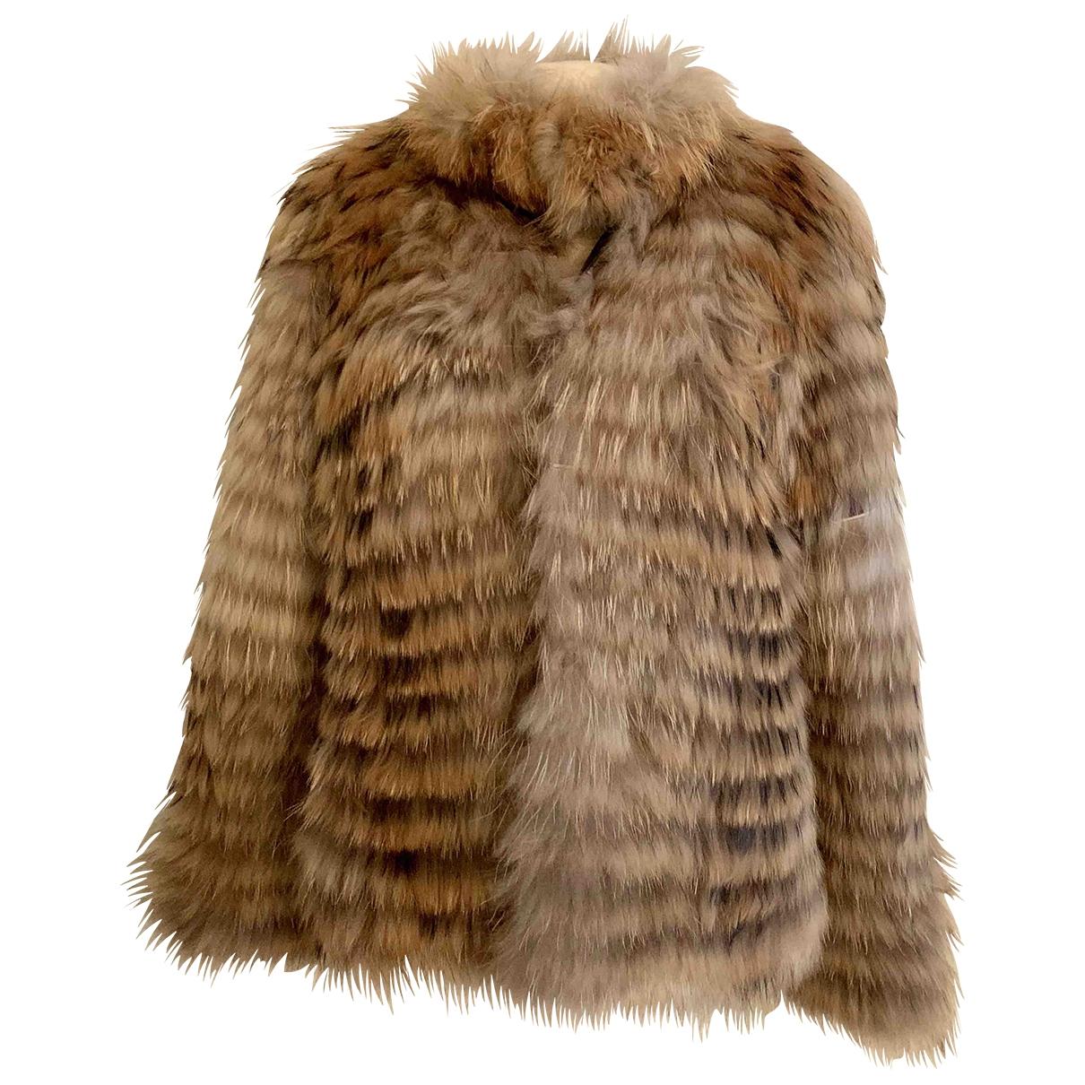 Dna \N Camel Raccoon jacket for Women 4 US