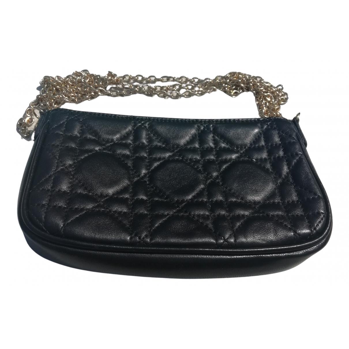 Dior - Pochette Lady Dior pour femme en cuir - noir