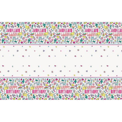 Favorite Things Birthday Rectangular Plastic Table Cover, 54