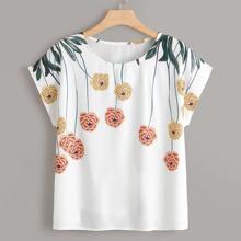 Camisa con estampado floral-grande