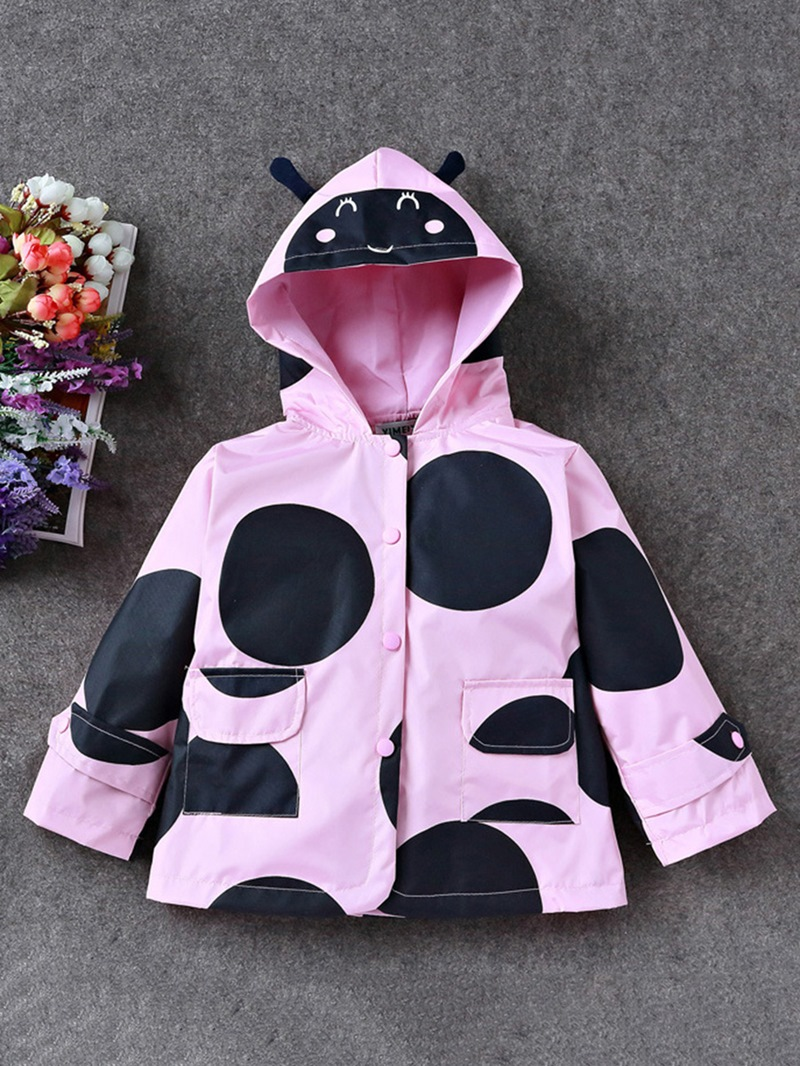 Ericdress Long Sleeve Bee Hooded Girl's Outerwears