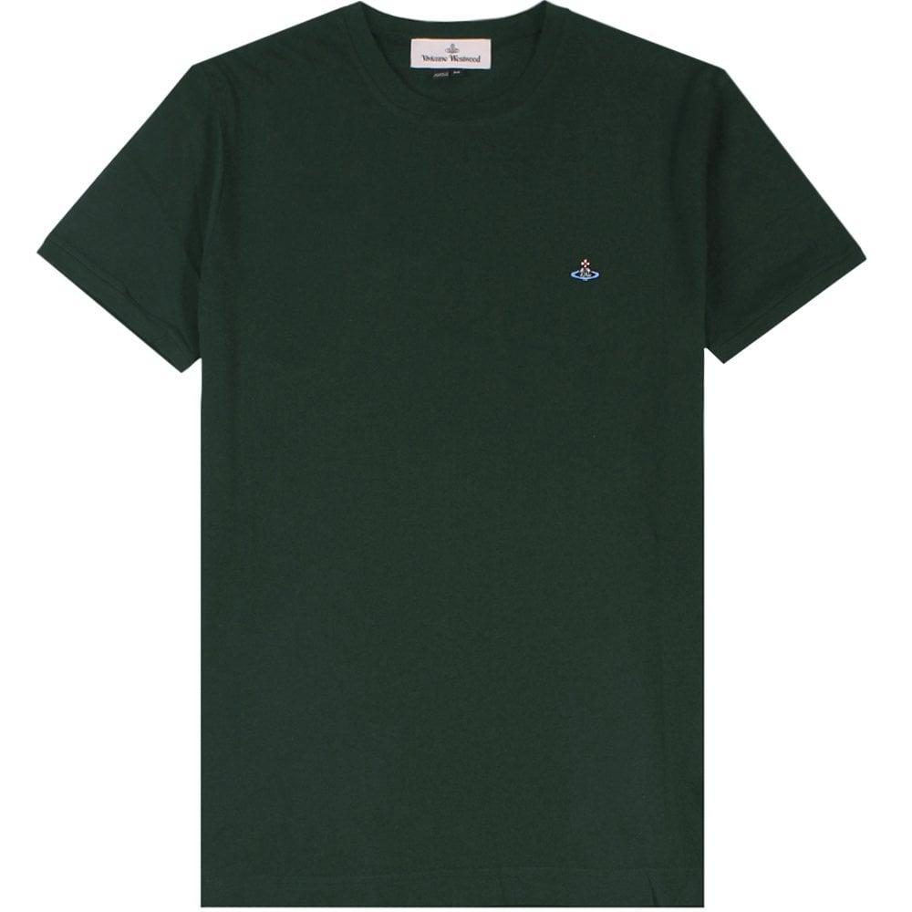 Vivienne Westwood Classic Orb Logo T-Shirt Colour: GREEN, Size: LARGE