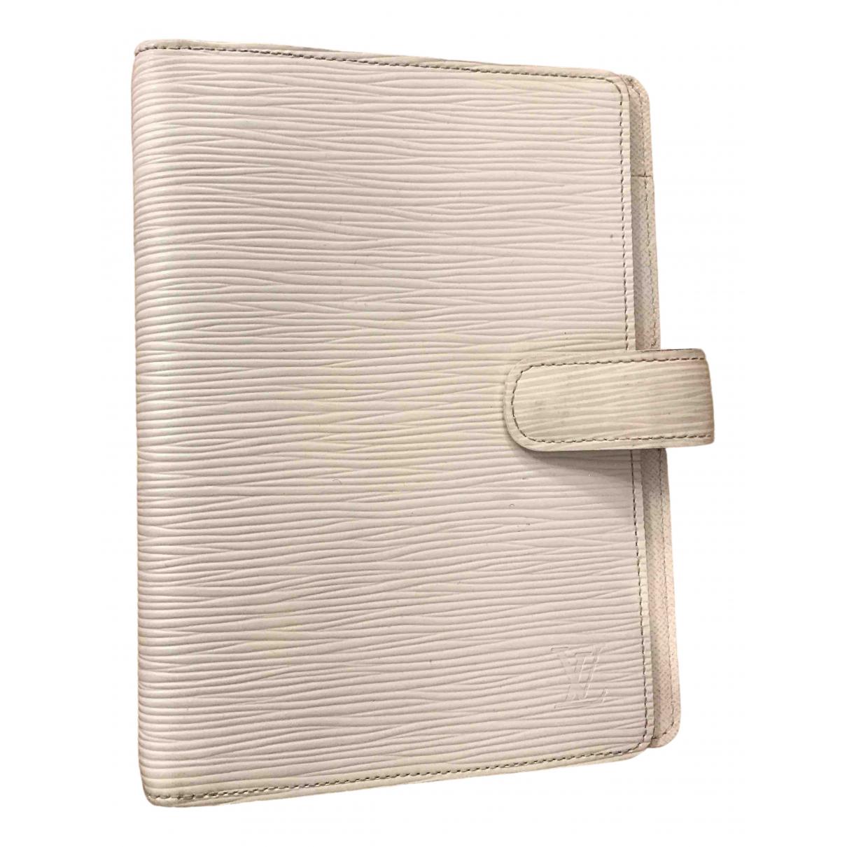 Louis Vuitton - Objets & Deco Couverture dagenda GM pour lifestyle en cuir - blanc