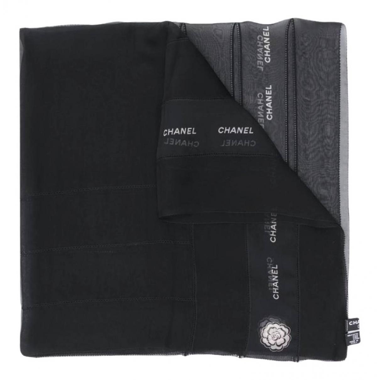 Chanel \N Schal in  Schwarz Seide