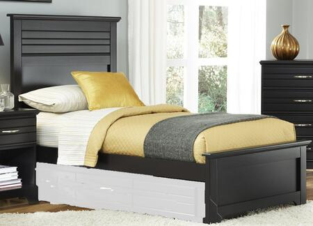 Platinum Collection 507830-3-509300 Twin Panel Bed with Panel Headboard & Footboard  Wood Rails with Slats and Hardwood & Wood Veneer Construction in