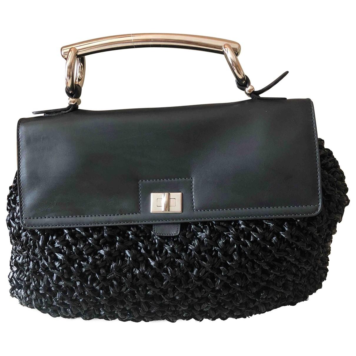 Ermanno Scervino \N Handtasche in  Schwarz Stroh