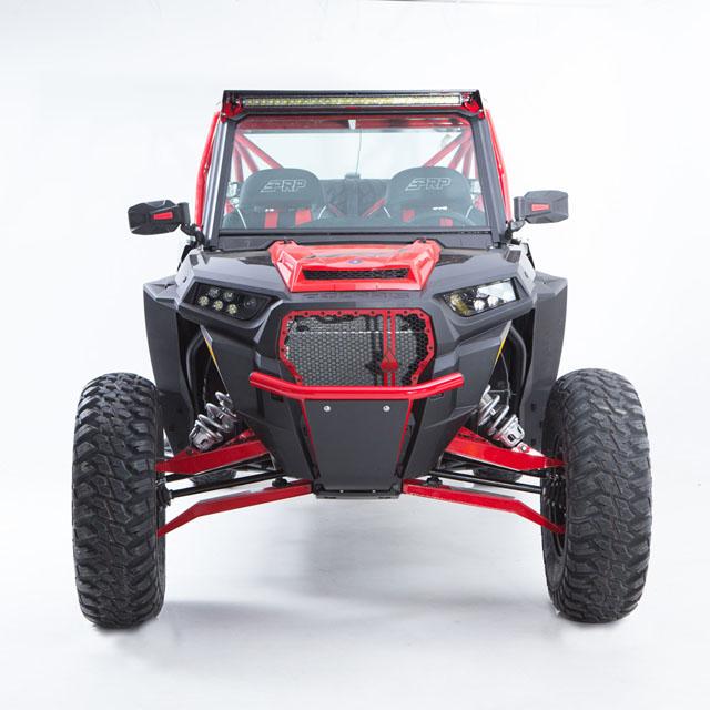HMF Racing 9355017466 Red Defender Front LT Bumper No Mount Polaris RZR TURBO | XP1K | S 9/1K 14-18