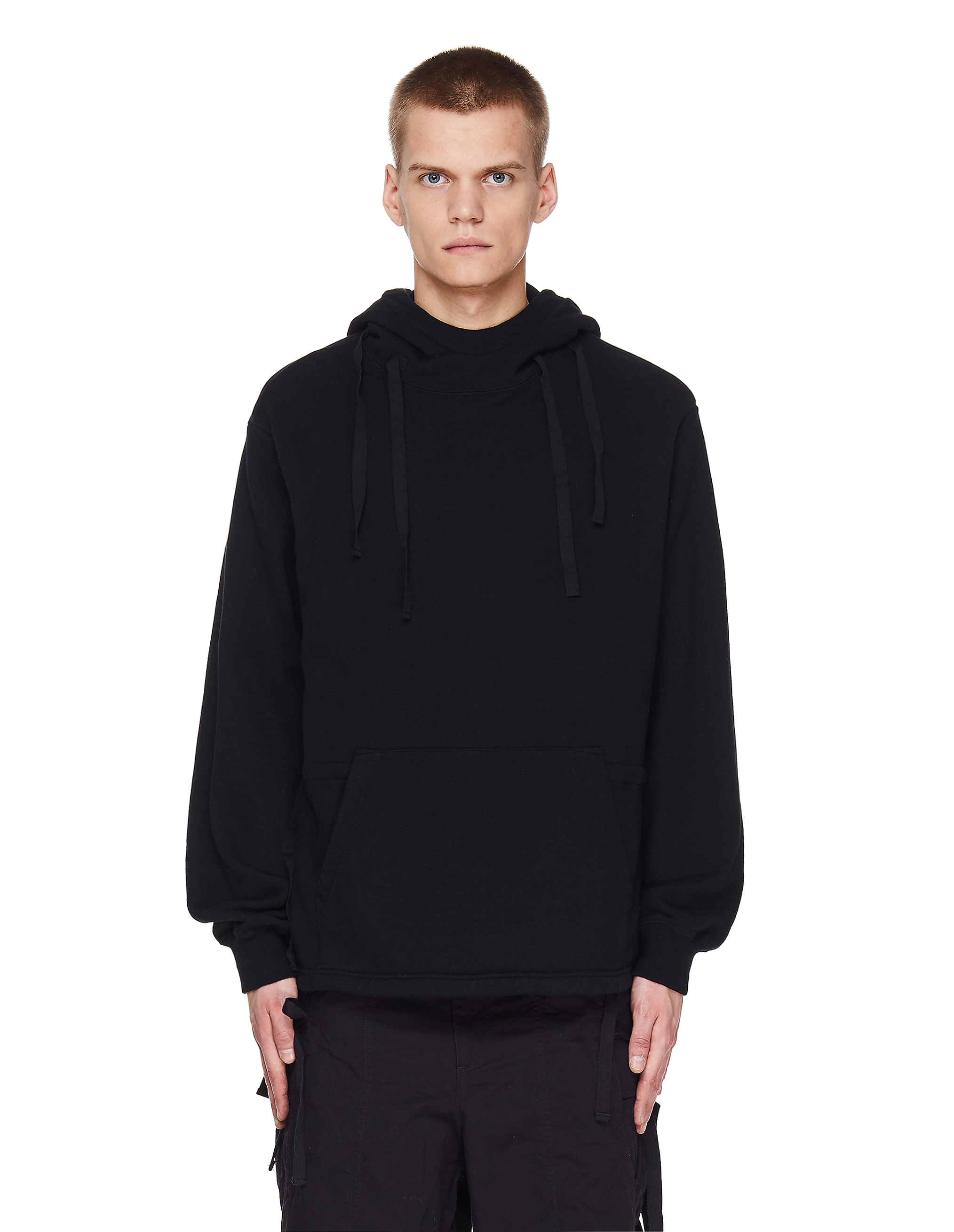 Undercover Black Cotton Printed Hoodie