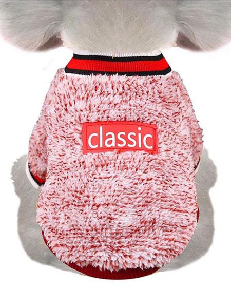 Milanoo Coral Fleece Pet Sweater Print Ropa para mascotas