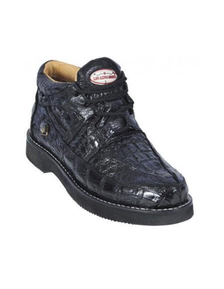 Black Genuine AllOver Crocodile Casual Shoes