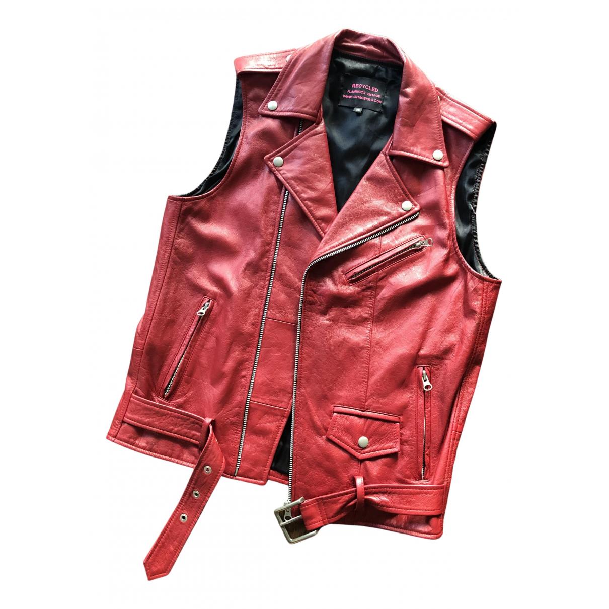 Reclaimed Vintage N Red Leather jacket for Women 38 FR