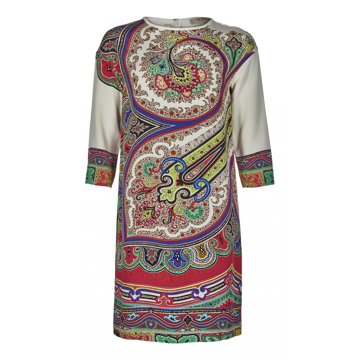 Etro - Robe   pour femme en soie - beige