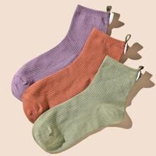 3 pares calcetines con letra