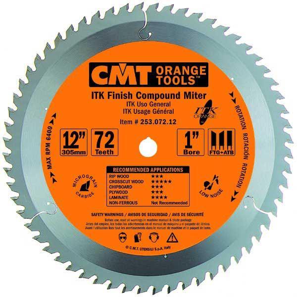 253.072.12 ITK Finish Compound Miter Saw Blade, 12