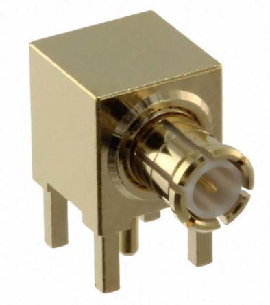Samtec , MCX Right Angle 50Ω Through Hole MCX Connector, Plug, Through Hole Termination