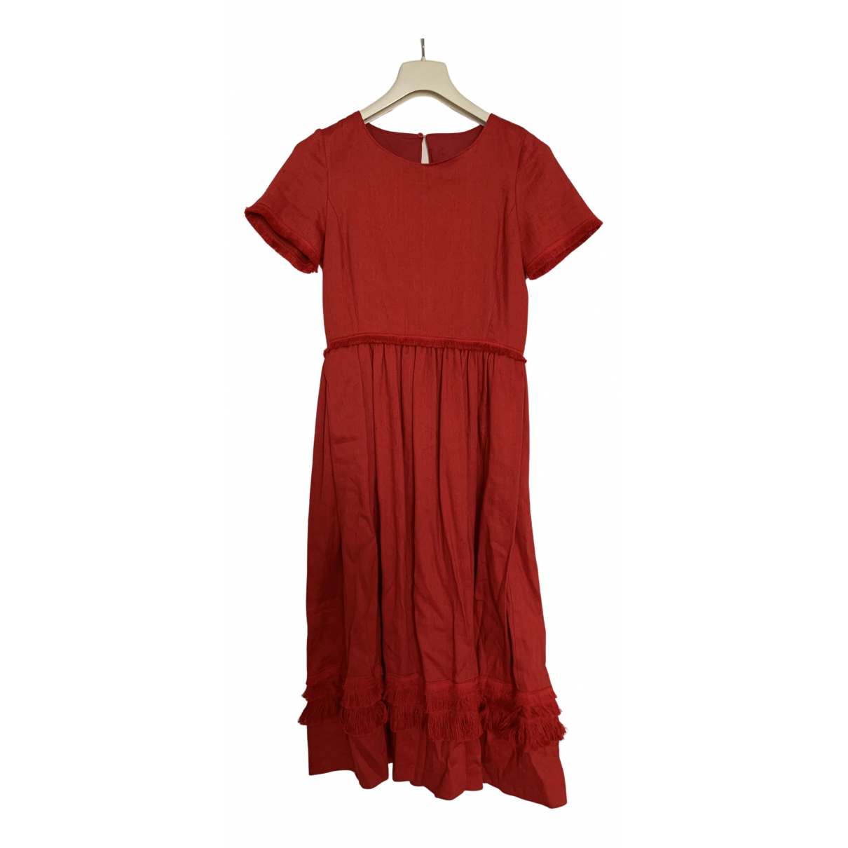 Intrend N Red Linen dress for Women 38 IT