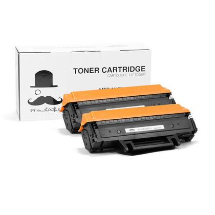 Compatible Samsung MLT-D111S Black Toner Cartridge - Moustache - 2/Pack