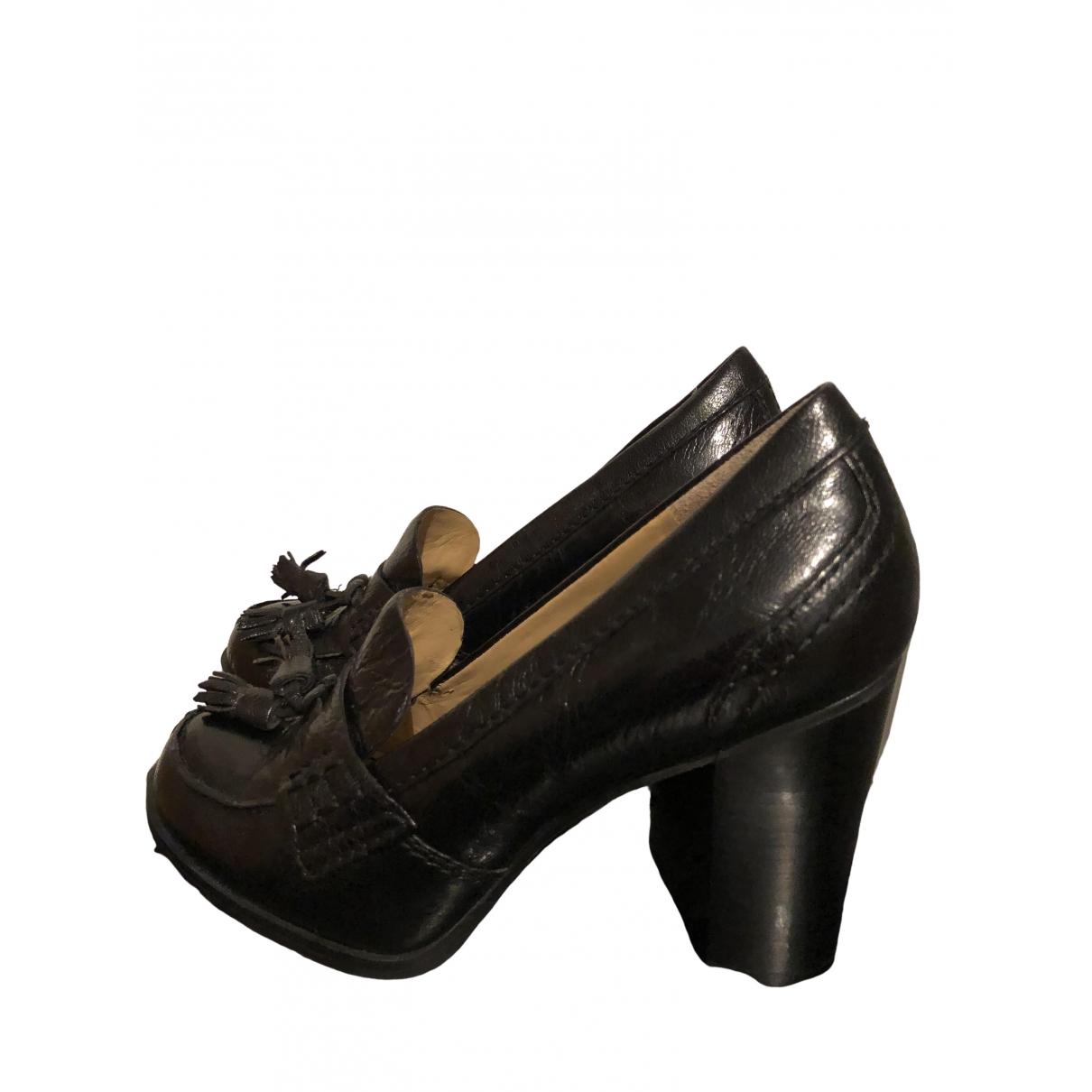 Nine West \N Sneakers in  Schwarz Leder