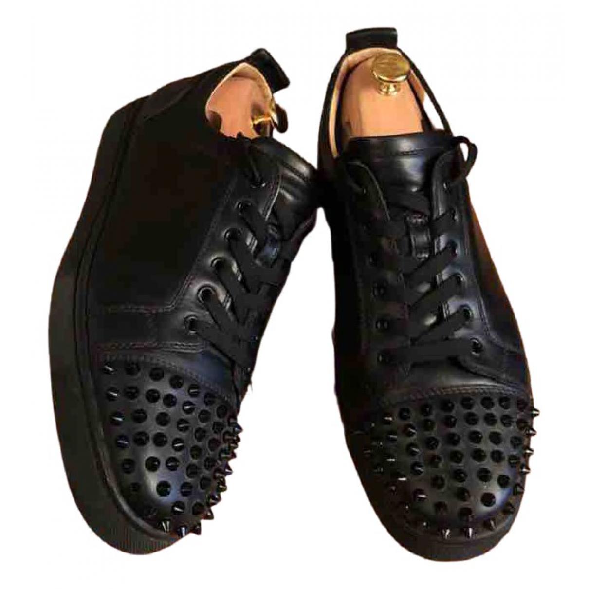 Christian Louboutin \N Black Leather Trainers for Men 42.5 EU