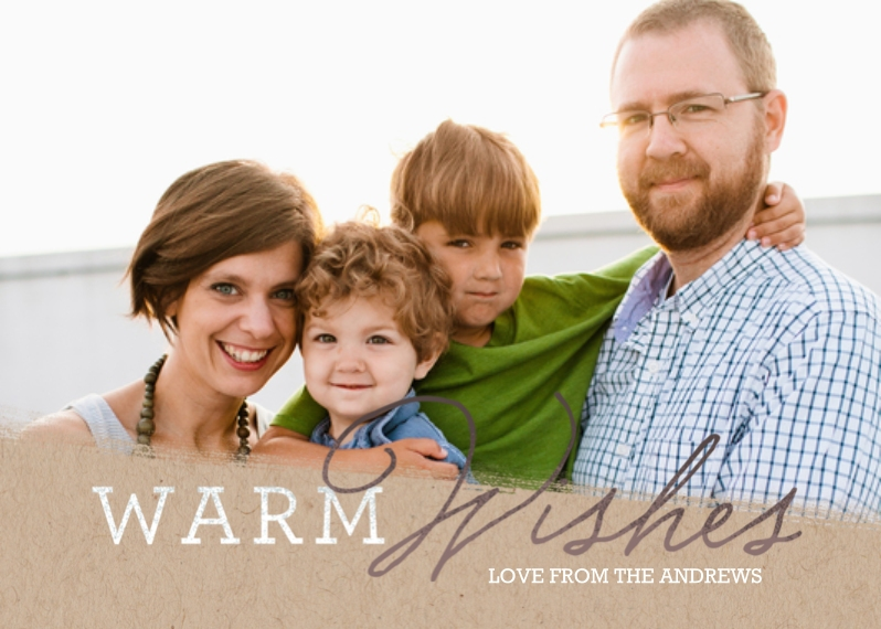 Holiday Photo Cards 5x7 Cards, Premium Cardstock 120lb with Scalloped Corners, Card & Stationery -Sending Warm Wishes
