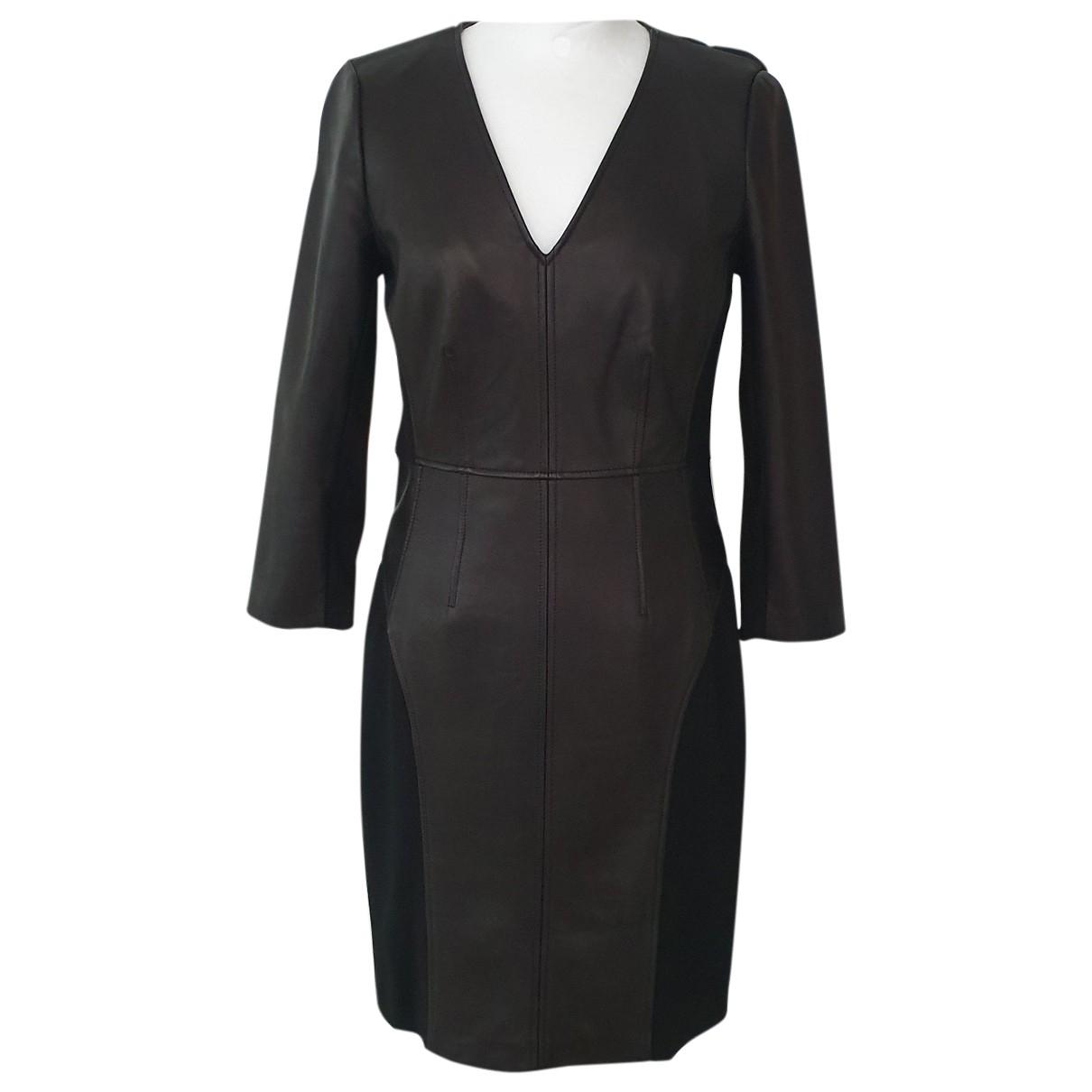 Vestido midi de Cuero Diane Von Furstenberg